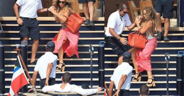 Mariah Carey, düşerken sevgilisi istifini bile bozmadı