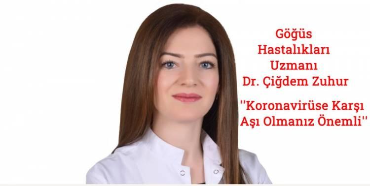 """Göğüs Hastalıkları Uzmanı Dr. Çiğdem Zuhur: """"Tedbiri Elden Bırakmayalım"""""""