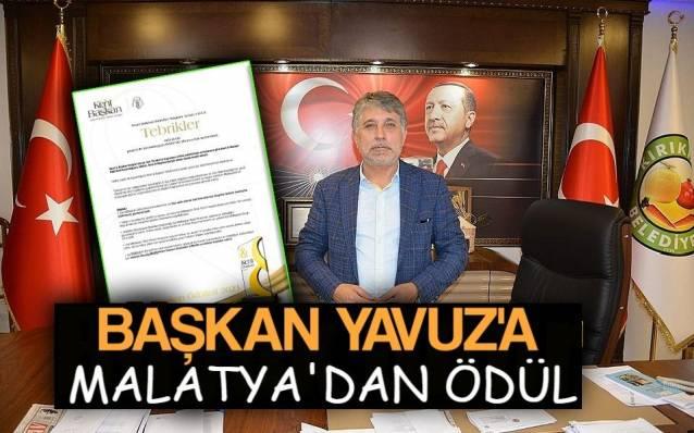 Başkan Yavuz'a Malatya'dan Ödül