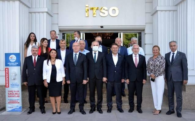 KKTC Başbakanı İTSO'da İş İnsanları İle Görüştü